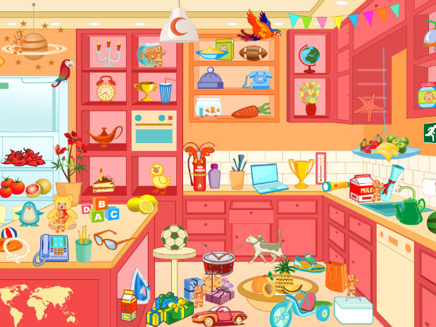 Messy Kitchen, Hidden Object games