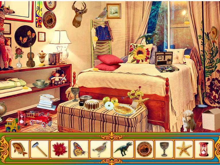 Modern Bedroom, HiddenObjects